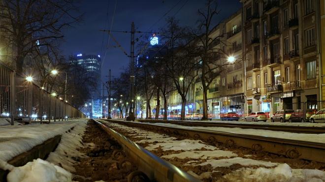 Около 2 тысяч километров трамвайных путей Петербурга очищено от снега в январе