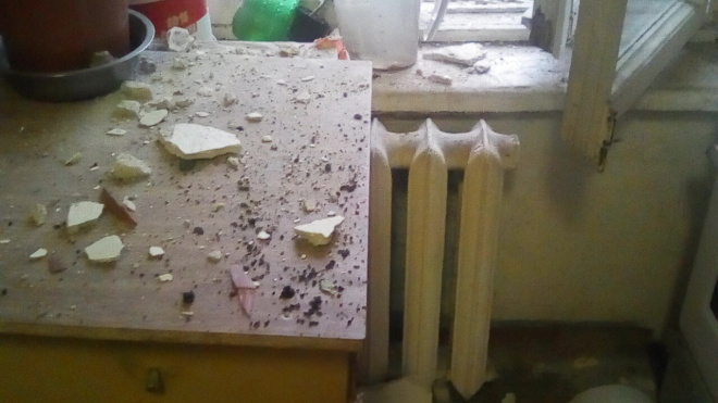 В доме наВыборгскойулицеобрушилась стена