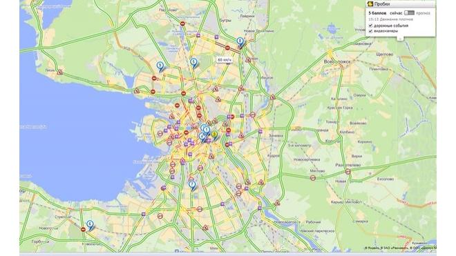 В Петербурге образовалась пробка длиной 11,2 км