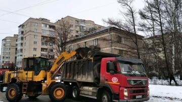 С улиц Петербурга за прошлую неделю вывезли 255 тысяч ...