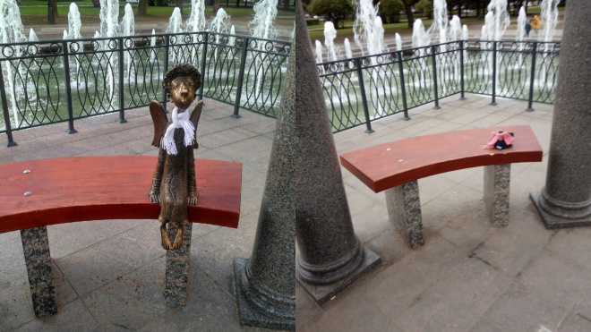 Ангела из Любашинского сада не украли, а отправили на ремонт