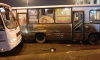 """Около метро """"Московские ворота"""" столкнулись два автобуса с пассажирами"""