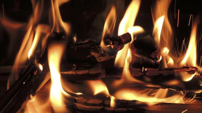 Чудовищный пожар на Приморском шоссе: горели библиотека, избирком и молельный дом