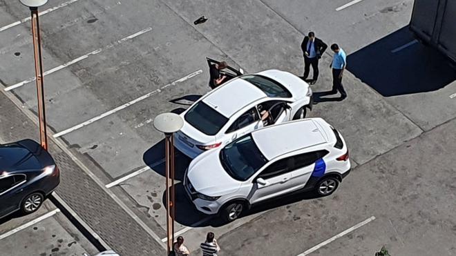 "Два каршеринга столкнулись на парковке ТЦ ""Эврика"""