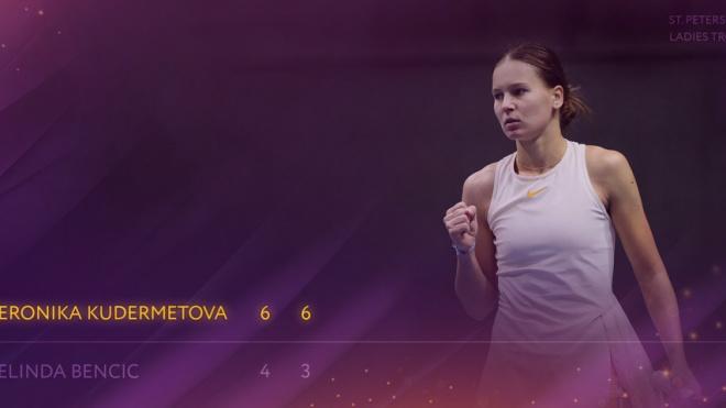 Российская теннисистка Кудерметова уступила Векич в турнире в Санкт-Петербурге