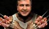 Украина смеется над портретами Яценюка, Саакашвили и Порошенко в образах супергероев