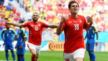 Швейцария добывает первую победу на Евро