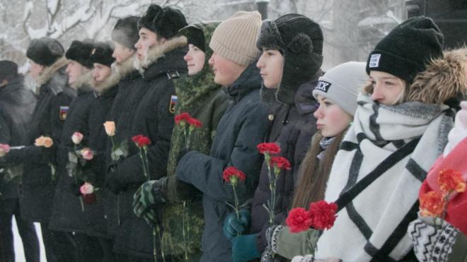 В Выборге прошла памятная акция к 75-летию полного освобождения блокады Ленинграда