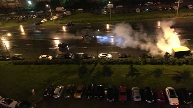 Пьяный водитель на Jaguar протаранил несколько автомобилей