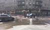 Кондратьевский проспект залило водой из прорванной трубы