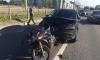 В аварии на Пискаревском проспекте пострадал мотоциклист