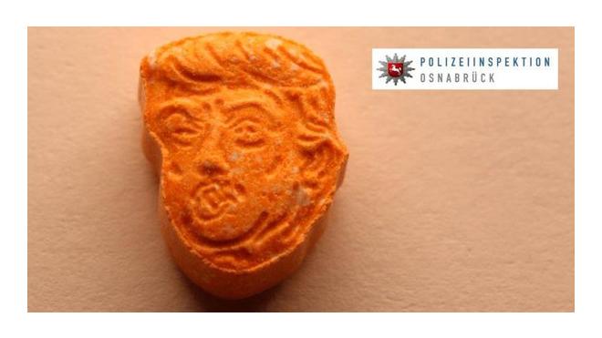 Полиция Германии изъяла партию таблеток экстази с лицом Трампа