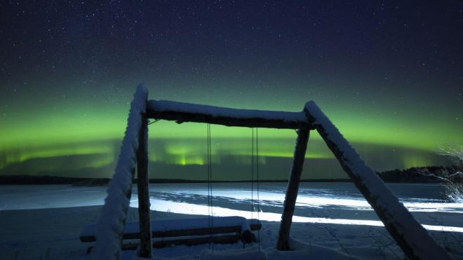 В Ленобласти 12 января запечатлели северное сияние