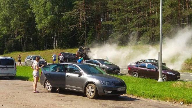 В аварии в Ленобласти погибли четыре человека