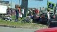 Форд снес женщину-пешехода и светофор на Оптиков, ...