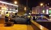На Невском после ДТП перевернулась иномарка