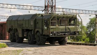 """В Лужском районе подняли ракетные комплексы """"Эскандер-М"""" в рамках учений"""