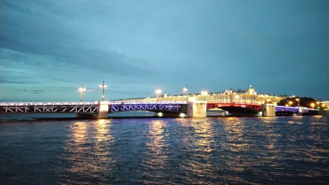 Дворцовый мост и Большой проспект Петроградской стороны подсветят триколором 22 августа