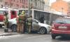 На Лиговском проспекте автобус протаранил легковушку