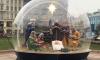 У Казанского собора установили вертеп со сценой Рождества Христова