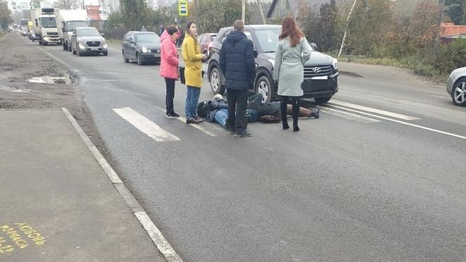 В Янино на пешеходном переходе сбили женщин