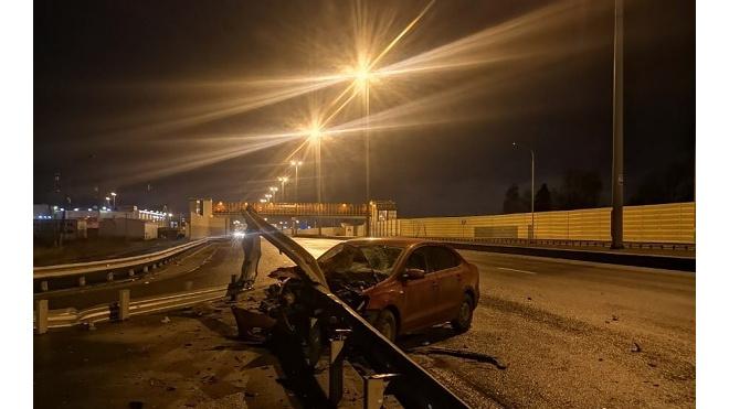 В Пушкинском районе автомобилист разнес Volkswagen Polo