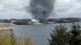Появились фото с места падения вертолета в Норвегии