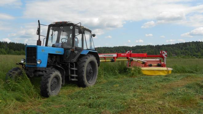 Выборгские аграрии приступили к заготовке кормов