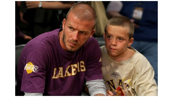 Дэвид Бекхэм с сыном Бруклином чуть не разбились в ДТП
