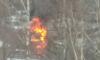 Появились фото горящего ВАЗа на улице Зины Портновой