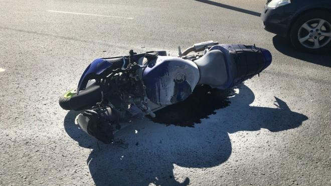В понедельник на дорогах Петербурга пострадали три мотоциклиста