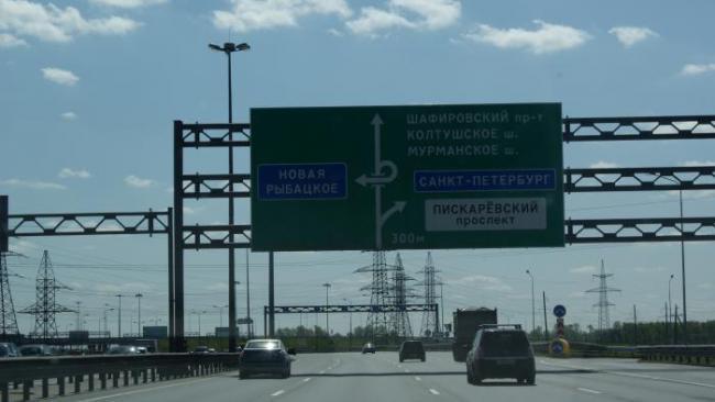 Полосу КАД у Приморского шоссе перекроют до 30 апреля
