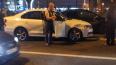 Пьяного водителя привязали к машине после ДТП на Петерго...