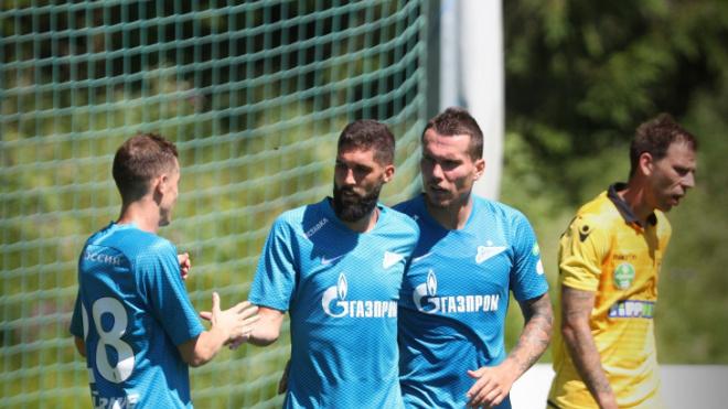 "Футболисты ""Зенита"" разгромили венгерский ""Гонвед"" со счетом 3:0"