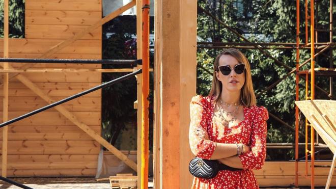 Собчак поделилась фотографиями своего будущего дома