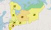 В Петербурге и Ленобласти объявлен желтый уровень опасности из-за грозы