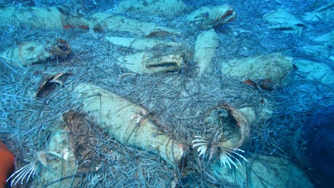 Водолазы-любители нашли у берегов Кипра затонувший римский корабль с амфорами