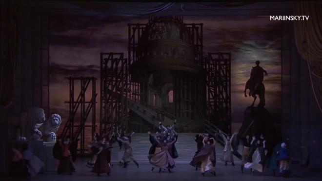 """Мариинский театр показал онлайн-трансляцию балета """"Медный всадник"""""""