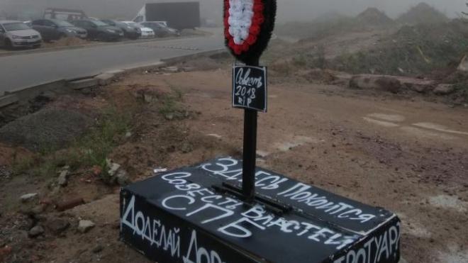 На выезде из Нового Мурино похоронили совесть городских чиновников