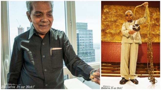 Житель Индии подстриг свои ногти после 66 лет отращивания