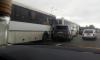На Мурманском шоссе столкнулись два автобуса и легковушка