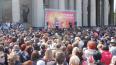Четыре тысячи петербуржцев спели фронтовые песни у Казан...