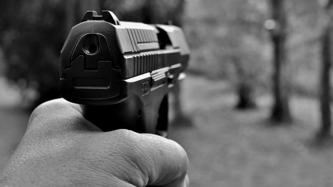 В Колпинском районе водитель выстрелил в прохожего
