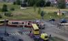 В Петербурге столкнулись автобус и трамвай, есть пострадавшие