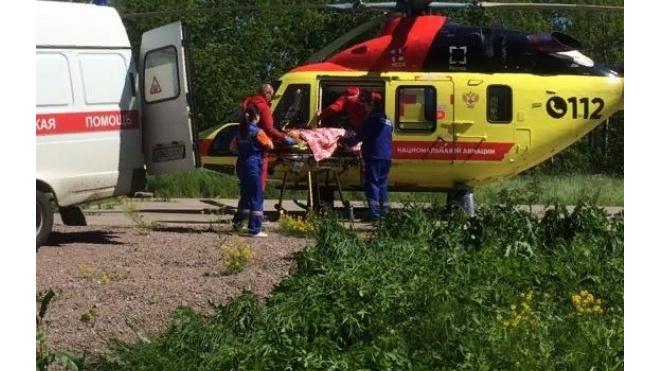 Вертолет санавиации спас пациентку из Выборга с черепно-мозговой травмой