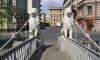 Львов на мосту через канал Грибоедова закончат реставрировать осенью