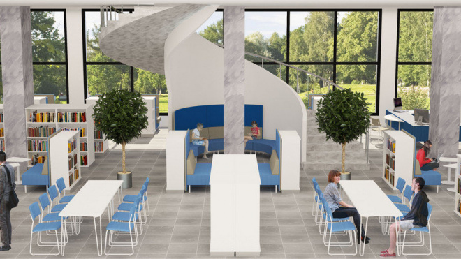 На Большеохтинском появится библиотечный интеллект-центр