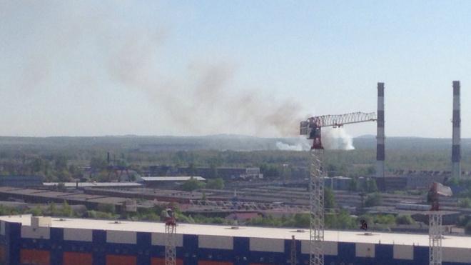 Возгорание на свалке около аэропорта Пулково ликвидировали