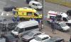 Водитель автомобиля сбил мотоциклиста в Приморском районе Петербурга