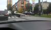 На Елизарова машина влетела в ограду парка